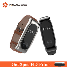 Buy Mijobs Genuine Leather Strap Watch Band MiBand 2 Strap Wrist Screwless Bracelet Wrist Replace Xiaomi Mi Band 2 Smart Watch for $7.16 in AliExpress store