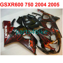 Red lines gsxr 600 Fairing kit For Suzuki 750 2004 2005 04 05 ( 100%New) Motorcycle road fairings free EMS m31
