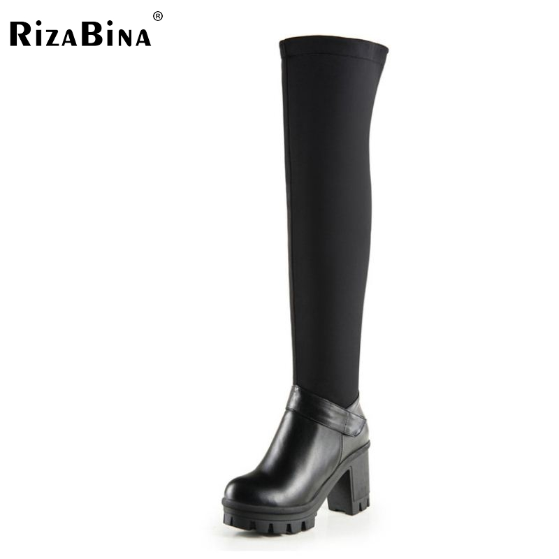 women platform high heel over knee boots fashion snow warm winter botas sexy long boot brand footwear shoes P20454 size 34-42<br>