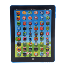 ABWE Best Sale Newest English Computer Learning Education Machine Tablet Pad Kids Toy Gift Blue