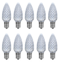 Pack of 25 LED C9 Cool White Replacement Christmas Light Bulbs for Light Strand, Commercial Grade Dimmable Holiday Bulbs , 5 Dio(China)