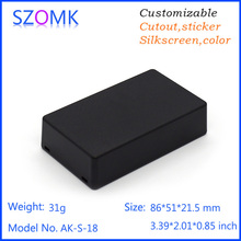 Szomk 20 psc a lot power supply White and black color little box small plastic terminal box connection  case 86*51*21.5mm