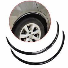 2pcs Black Car Fender Flare Wheel Lip Rubber Protector Body Kit Trim 70cm Auto Replacement Parts Exterior Parts