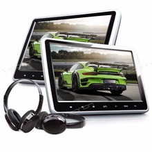 "Pair of 10.1"" Car Headrest DVD Headrest Car DVD Headrest Car Monitor with 2 IR Headphones Included & Buit-in HDMI Port(China)"