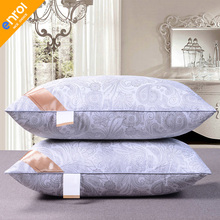 Light Pillow Filler Cotton fiber pillow Five-Star Hotel Jacquard Silk Comfort Zero Pressure Memory Neck Health For bedding(China)