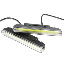 2 x 20cm COB LED Vehicles / Car Daytime Running Light DRL With Installation Bracket Super White Light Warning / Security Lamp