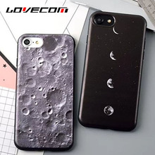 LOVECOM For iPhone 6 6S Plus 7 Plus Shell Eclipse & Moon Surface Pure Black Covers Soft TPU Anti Shock Mobile Phone Cases Coque