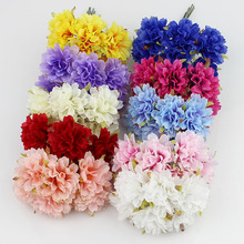 3cm Silk artificial chrysanthemum flowers for home Garden wedding decoration Scrapbooking 60pcs/lot(China)
