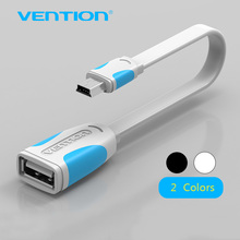 Vention Mini USB 2.0 OTG Cable Mini USB Otg Data Cable Adapter 10cm/25cm male to female for Tablet PC/MP3/Cellphone /GPS(China)