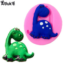 Dinosaur Shape Fondant Cake Silicone Molds Candy Biscuits Mold Chocolate Mould Kitchen Baking DIY Wedding Cake Decorating Tools