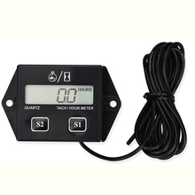 New Digital LCD Display Device For Motorcycle Motor Speed Timer Motorboat Engine Electronic Tachometer Hour Meter For Boat Car(China)