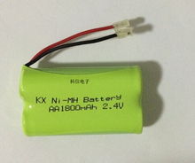 2PACK/LOT Brand New Ni-MH AA 2.4V 1800mAh Ni MH Rechargeable Battery Pack With Plugs For Cordless Phone Batteries
