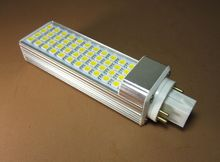 G24q-3 10W led plc lamp with 44led 5050SMD 180degeree 1000lm real test AC277V warranty 3 years(China)