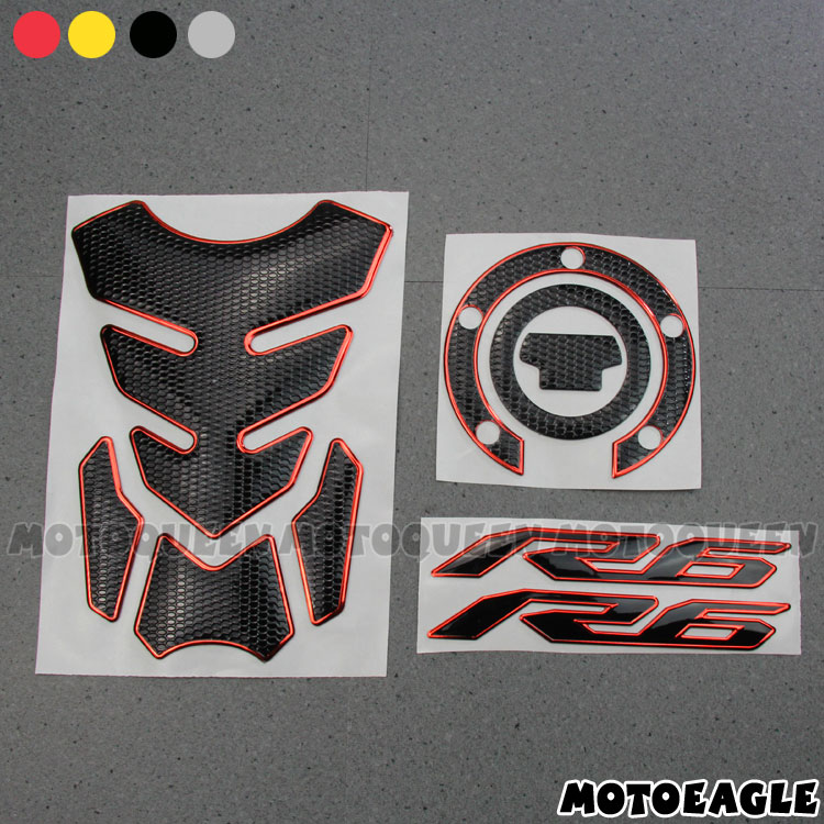 STICKER 3D for YAMAHA BIKE R6 2006-2015 PROTECTION PLATE FORK