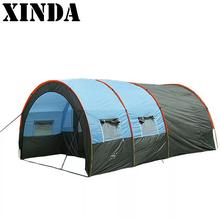 Rain Resistance Camping Equipment Outdoor Tent Room One Room Two Hall 5-8 Person Large Tunnel Tents DH0020