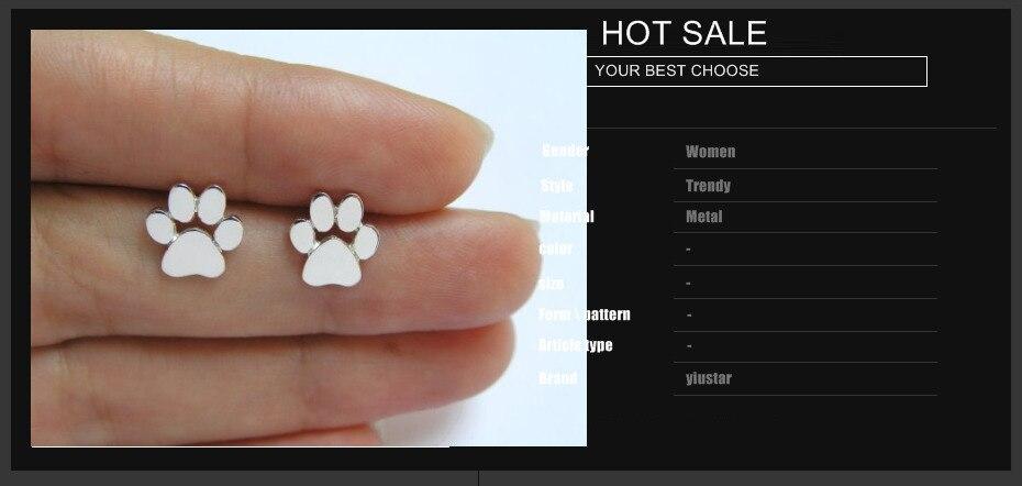 Cute Dog Paw Print Earrings 1