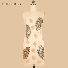 Blingstory Europe And The United States Woman Summer Hook Flower Sequined beautiful dresses Women Clothing Dropship MD89006
