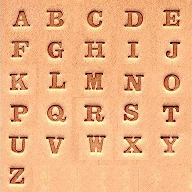 3mm Kit de Sello de n/úmero y Alfabeto de aleaci/ón de Acero de 36 Piezas con Mango Antideslizante para Bolsos de Chaqueta de Cuero de Bricolaje Zapatos HEEPDD Herramientas de Estampado de Cuero