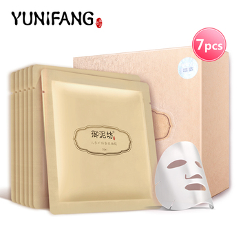 Лицо уход за кожей YUNIFANG женьшень FAICAL маска минеральная шелковая против морщин против старения увлажняющий увлажняющий 30 мл * 7 шт.