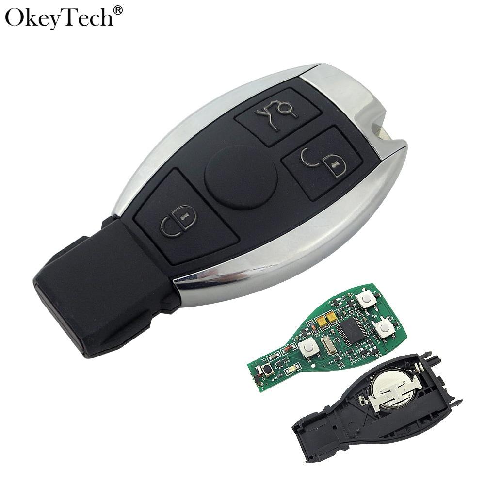 Okeytech New Keyless Entry Smart 3 Buttons Remote Key 433MHz 2004-2014 Mercedes Benz 2000+ NEC&BGA Control D25