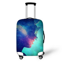 Prevent the impact to prevent scratches Artist Illusion  pattern luggage case travel must be soft and durable non-slip
