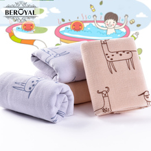 MMY Brand New Arrival -2pc 100% Cotton Cartoon Baby Towels Cute Quick Drying Small Hand Towels Soft Face Wash Cloths