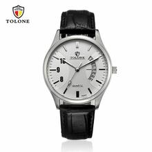 TOLONE Lowest Price Mens Watches Top Brand Luxury Stainless Steel Leather Waterproof Military Watch Luxury brand reloj hombre