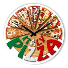 Fashion Pizza Kitchen Decorative Wall Clock With Waterproof Clock Face Dining Hall Wall Decoration Watch Clock Home Decor(China)
