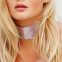 2016 Trendy Punk Choker Collier Bijoux Ethnique Women Accessories Gothic Sequins Choker Necklace Collar Jewelry