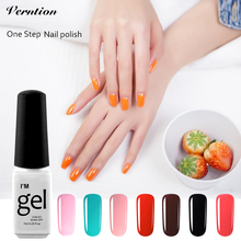 Verntion One Step Gel Polish 3 In 1 Nail Gel Newest Color Nail Art Varnish Soak Off Gel Polish Long Lasting LED UV Cheap Gel