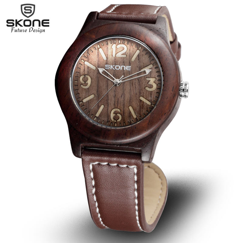 SKONE Natural Sandalwood Male Date Watches Men Casual Watch Antique Quartz Maple Wooden Wristwatches Hours Relogios masculinos<br><br>Aliexpress