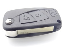 Flip Remote Key Shell Case Holder fit for Fiat Punto Stilo Idea 3 Button Fob 1pc auto parts uncut blade blank cover