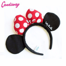 Candiway Red Bow Adult Minnie Mickey Mouse Ears Headband Birthday Party Decoration Kid Minnie Mickey Mouse Bachelorette Supplies