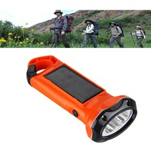 Excelvan Solar Powered Flashlight,2 LEDs 0.35W Solar Panel Led Flashlight for Emergency Indoor Outdoor Sports Diving Flashlight