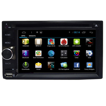 Brand New Quad Core 16G 6.2'' Pure Android 4.4.4 Universal 2DINCar PC Capacitive Screen +Mirror link Car DVD Multimedia Player