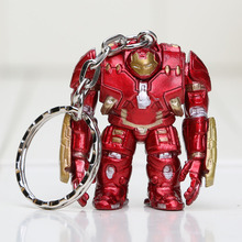4cm The Avengers Iron Man Hulkbuster keychain Action Figure keyring Doll PVC figure Toy Brinquedos Anime(China)