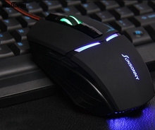 Adjustable 1800 DPI Optical USB Wired Gaming Mouse Mice For PC Laptop BK(China)