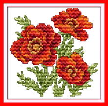 Joy sunday floral style The flower of happiness printable cross stitch patterns free gift stamped canvas for beginners