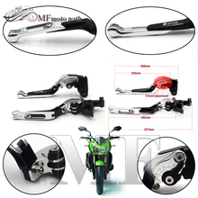 For KAWASAKI Z750 2007-2012 Motorcycle Accessories Adjustable Folding Extendable Brake Clutch Levers Green Color