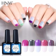HNM 2017 New 10ML UV Thermo Gel Polish Snowy Thermal Color Change Gel Nail Polish Semi Permanent Hybrid Lacquer GelLak Varnish