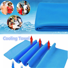 1Pcs High Quality Swimming Towel Sports Instant Cooling Jogging Swim Gym Cycling Chilly Pad Ice Cold Yarn Enduring Towel 85x35CM