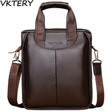 2017VKTERY Brand PU Leather Men Bags Fashion Male Messenger Bags Men's Small Briefcase Man Casual Crossbody Shoulder Handbag