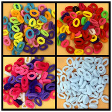 About 80pcs Ponytail Elastic Holders Hair Accessories Nylon Colorful Kids Girl Rubberbands Tie Gum Ice Cream Colors