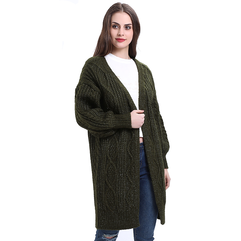 H.SA 17 Women Long Cardigans Autumn Winter Open Stitch Poncho Knitting Sweater Cardigans V neck Oversized Cardigan Jacket Coat 8
