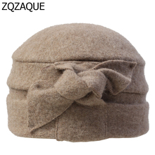 2018 Korea Style New Hot 100% Wool Made Women's Fedoras Bowknot Decorated 6 Colors Winter Warm Hats Best Gifts For Female SY745(China)