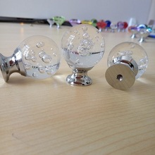 30mm Crystal Glass Bubble Ball Handle Dresser Drawer Cabinet Wardrobe Pull Handle Kitchen Bedroom Furniture Knobs
