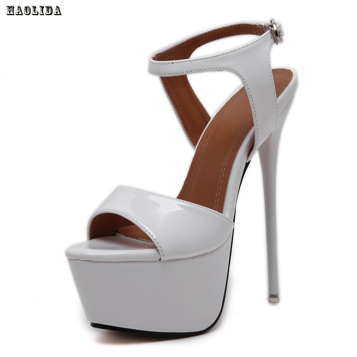 New 2017 Fashion Peep Toe High-heeled Sandals Sexy Open Toe 16CM High Heels Sandals Party Dress Women Shoes<br>