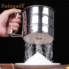 SAINGACE  Sieve Cup Powder Flour Sieve Mesh Knife Baking Tools Pastry Tools sifter shaker U70412 DROP SHIP