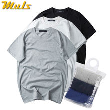 7XL 3Pcs/Lot Basic Tops Tees Men T-shirts Summer cotton short comfortable Brand male Tshirts quick dry Solid simple clothing man