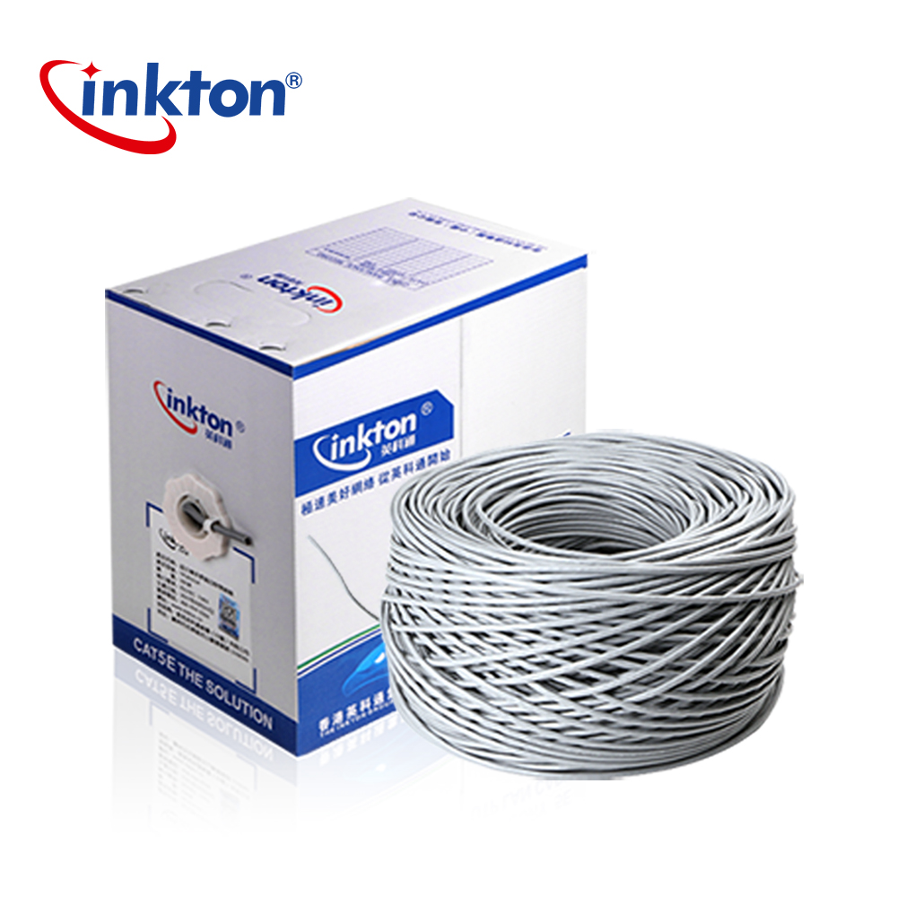 Inkton Outdoor Waterproof Utp Cable Cat5e Ethernet Rj45 Black Wiring Oxyen Copper Cores Lan For Engineering
